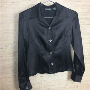 Banana Republic Silk Satin Button Down Blouse XS